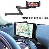 Mini Cooper Supporto Telefono, Pieghevole Invisibile 360 ° Rotante Telefono per Auto Supporto GPS per Mini Cooper F54 F55 F56 F60 (MINI F)