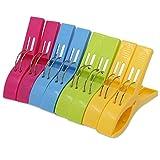 KEESIN 8 Pack Durable Strand Handtuch Clips Mode Farbe Große Größe Kunststoff Handtuch Clips Quilt Clips für Sunbed oder Pool (Rose-rot)