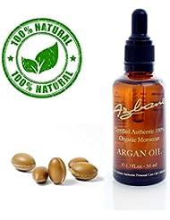 Certifié 100% huile d'argan biologique 50ml Maroc. Aide à lutter contre la cellulite, des bandes de grossesse ou de l'acné et retend la peau partout. Pour le visage, les cheveux, la peau, les ongles - naturel et hydratant intensément nourrissant pour la peau douce, jeune, cheveux raides, des ongles sains et les pellicules  huile anticellulite