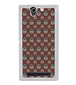 ifasho Designer Phone Back Case Cover Sony Xperia C3 Dual :: Sony Xperia C3 Dual D2502 ( Royal Green leaves Pattern Design )