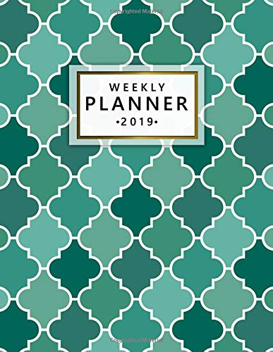 Weekly Planner 2019: Pretty Ogee Mosaic Turquoise Weekly and Monthly Organizer. Nifty Yearly Schedule Agenda, Journal and Notebook (January 2019 - December 2019). por Simple Planners