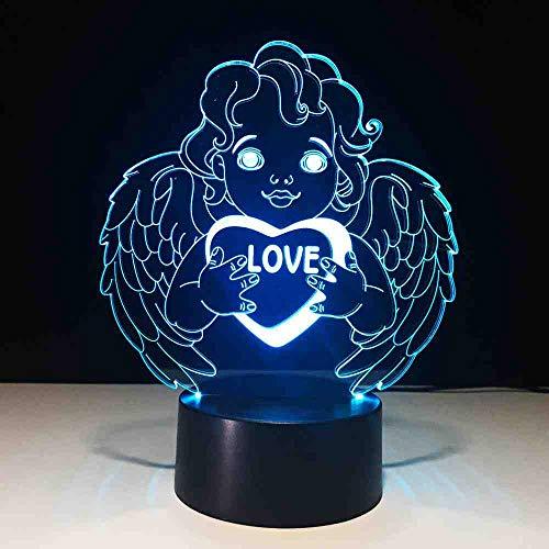 BDDLLM creative geschenke engel led lampe usb cherub nachtlicht 3d schreibtisch tischlampe schlafzimmer nacht schlaf licht lampara valentinstag dekor -