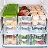 Frischhaltedose mit Deckel, Kühlschrank-Gefrierschrank und Kühlschrank-Container-Box mit Deckel, Kühlschrank Frischhaltung Aufbewahrungsbox
