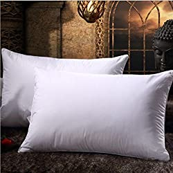 Comfortable Bed Pillow Set of 2 Combo Super Soft Microfiber Cushion Pillow Cure Cervical Shoulder Back Neck Pain Relief