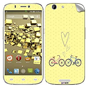 GsmKart MCG Mobile Skin for Micromax Canvas Gold (Yellow, Canvas Gold-634)