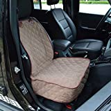 #2: INELE Car Seat Cover Protection for Pet Dog (Khaki)