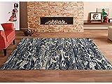 Oedim Teppich Dunkle Grautöne Multicolor Damast PVC  95x120cm   PVC-Teppich   Vinylboden   Dekoration