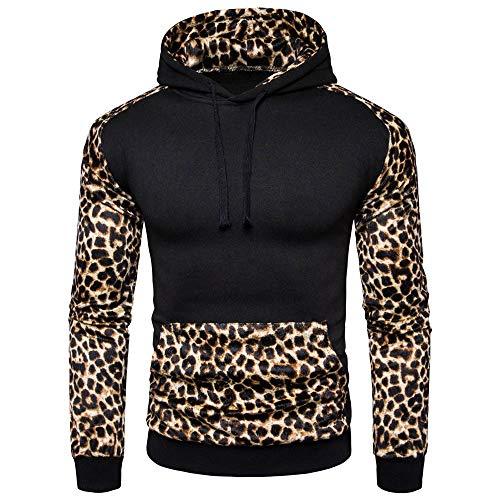MIRRAY Herren Kapuzenpullover Leopardenmuster Pullover 2018 Sweatershirt
