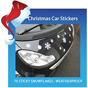 70 Snowflake Car Stickers - Ready for Christmas