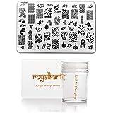 Royalkart Nail Art Stamping Kit Jumbo Image Plate With Soft Nail Silicon Stamper & Scraper (CF07)