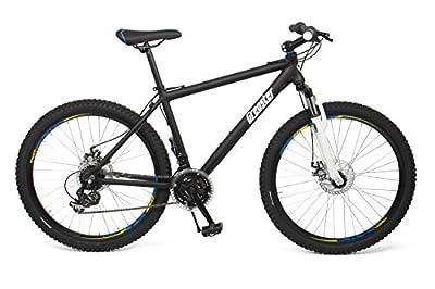Gregster Mountainbike 26 Zoll für Damen und Herren in schwarz, Fahrrad mit Aluminium Rahmen Shimano Kettenschaltung und Scheibenbremsen