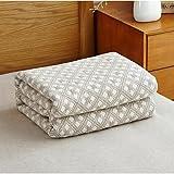 SUNNY KEY--Mantas para cama @ De Punto Geométrico Algodón Compuesto mantas , khaki
