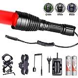 Odepro Langstrecken Jagd Taschenlampe Mit Rot Grün IR850nm Weiß ersetzbar Cree LED und Fernschalter Für die Jagd