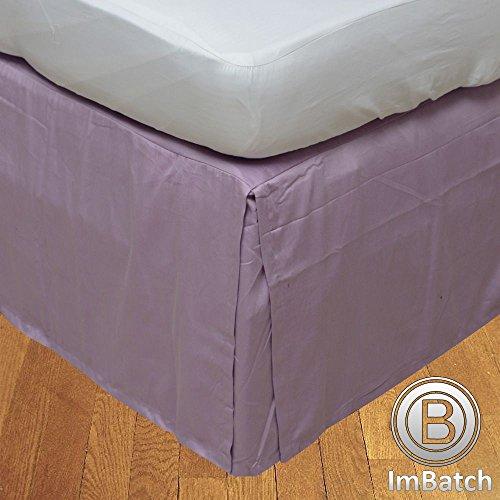 500TC 100% cotone egiziano Elegante Finitura 1pcs scatola plissettata letto solida, lunghezza della goccia: 26cm UK Emperor Blu turchese tinta unita Lilla tinta unita