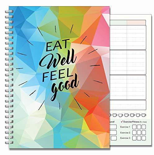 A5Ernährung Diary, Lebensmittel Log Tagebuch, Diary, Food & Übungs-Tagebuch, kompatibel mit Slimming World und alle anderen Diät Pläne, gelb Schmetterling Staub Cover (Alle Obst-diät)