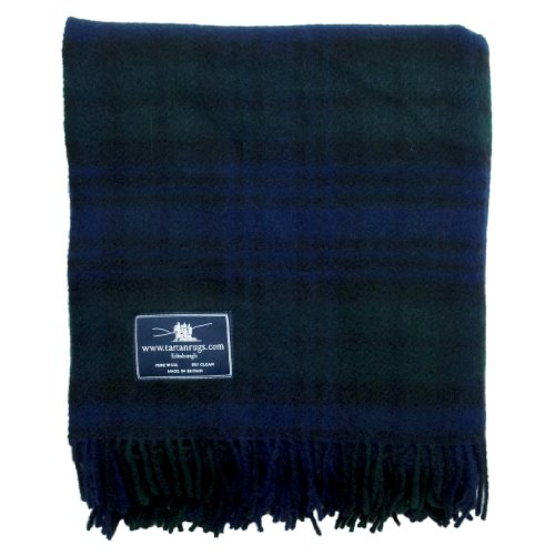 Black Watch Tartan / Schottenmuster Wolldecke -