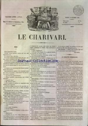CHARIVARI (LE) [No 287] du 14/10/1851