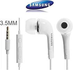 Samsung Original EHS64AVFWE In-Ear Headphones with 3.5mm Jack & Mic for all Smartphones, White