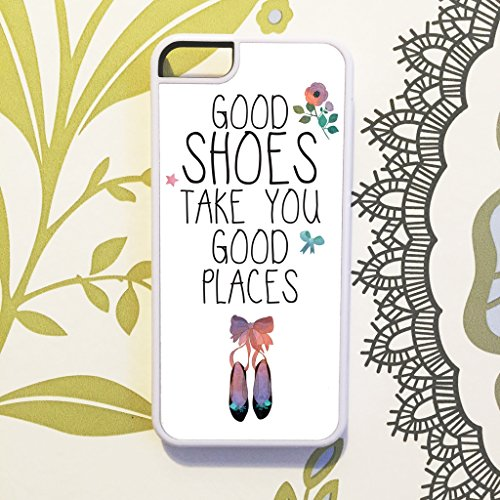 Oliva & Maybelle Good Scarpe Take You Good luoghi Quote Cover per iPhone 6& 6S (4.7pollici), colore: bianco
