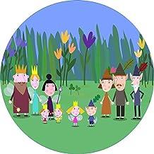 Ben & Holly 's Little Kingdom comestible juego de dulces y tartas Decoratio redondo cumpleaños personalizada tarjeta de oblea