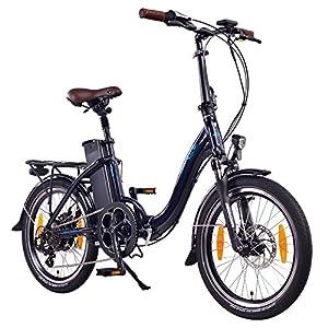 NCM Paris 20 Zoll Elektrofahrrad,E-Faltrad,E-Bike,Pedelec,Klapprad,36V 250W Das-Kit R2S Heckmotor, 36V Li-Ion Akku mit 15Ah High Power Zellen,mit mechanischen Scheibenbremsen,weiß,silber,dunkel blau,schwarz