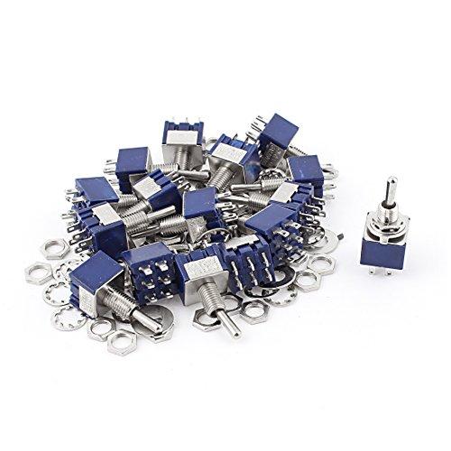 20ST AC 125V 6A EIN-AUS-EIN DPDT Gripzange Mini Kippschalter Blau 6mm DE de -