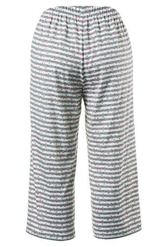 Ulla Popken Femme Grandes tailles Ensemble de Pyjama confortable Grande Taille Motif imprimé Femme 705973 rouge corail