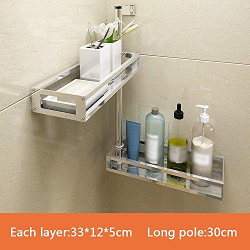 Simple shelves Kitchen Corner Köcher Halter Free Punch Gestell Wand Anhänger Gestell Strap Suppe Gewürz Gestell Multilayer Wand (größe : 33 * 12 * 30cm) -