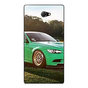 Jugaaduu Super Car BMW Back Cover Case For Sony Xperia M2 Dual