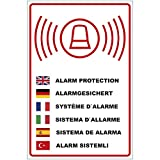 """'Cartello """"Allarme con fusibile in più lingue in PVC Schiuma Rigida Piastra 200X 300mm–3mm di spessore"""