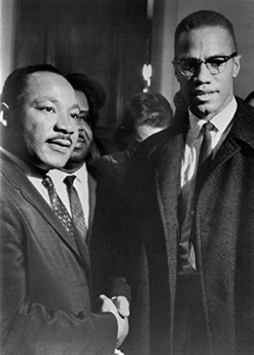 HSE Malcolm X & MLK Poster Handschlag-Martin Luther King Rare Hot 24x 33 (Mlk Poster)