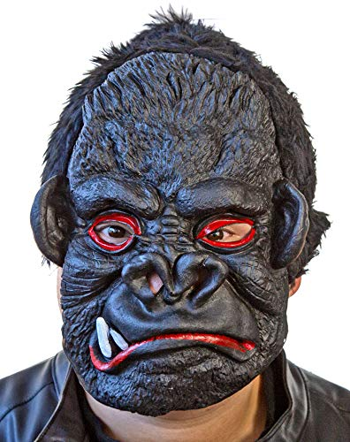 Nerd Clear King Kong Maske | Killer Affen Maske | Schwarze Latex Maske | Gorilla Maske Halloween Karneval Motto Party Gorillas (Kostüm Halloween Anführer)