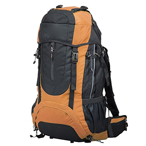 Borsa Per Escursioni All'aperto Multiuso Alpinismo,Black Orange