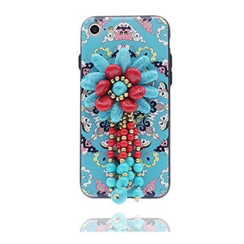 "Hülle iPhone 6, [ TPU Flexible Langlebige national characteristics] iPhone 6S Handyhülle Cover (4.7 zoll), iPhone 6 Case Shell (4.7"") Anti-Beulen - Nationaler Stil & Touchstift Blume # 1"