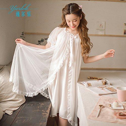 XBR prinzessinnenkleid mädchen nachthemd schlafanzug hose,weiße,f