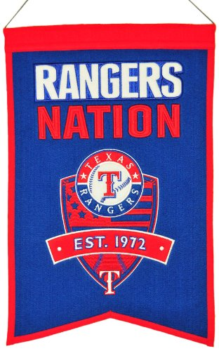 MLB Baseball Texas Rangers Nation Wimpel Pennant Wool Blend Banner 54x35