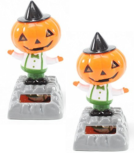 Set of 2~ Dancing Pumpkin with Hat Solar Toys Halloween Nightmare Party Home Decor Gift US Seller by We pay your sales tax