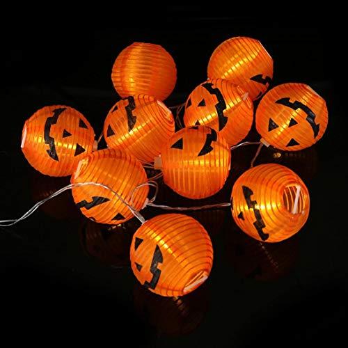 (Pumpkin Dekoration Lichter,Transwen Kürbis String Lights Lichterkette Halloween Dekoration Lichter Warmes Weiß mit 20 LED-Lichterkette (20Led Gelb))