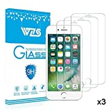[3-Pack] Vetro Temperato iPhone 8 / 7 / 6 / 6S, Pellicola Protettiva WZS® in Vetro Temperato Screen Protector Film Ultra Resistente (0,33mm HD Alta trasparente) per iPhone 8 / 7 / 6 / 6S