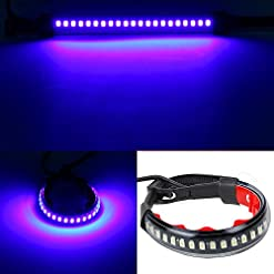 Haichen universale flessibile LED segnale di girata DRL luce impermeabile regolabile Stips barre per forcella moto ATV auto camper SUV