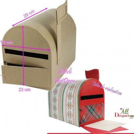 Briefkasten Amerikanische Pappe, Urne Mailbox US mit Flagge, 19x 23x mittelgroßes Blech