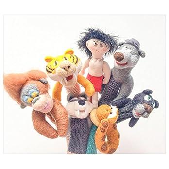 "Finger Wolle Puppen ""Buch des Jungles"""