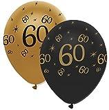 Partydeko 50 Luftballons 60. Geburtstag Black and Gold