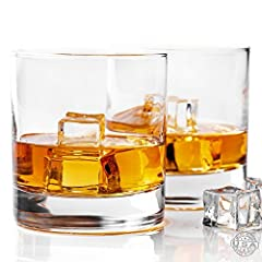 Idea Regalo - Taylor'd Milestones - Biccheri da Scotch e whisky, 10 oz (280 ml), set di 2, con incisione a diamante, stile vintage