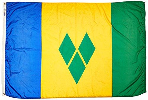 Nyl Glo Nylon (Annin flagmakers 197300Nylon solarguard nyl-glo St. Vincent/Grenadinen Flagge, 4X 6