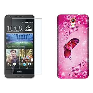 Design Worlds Flexible Tempered Glass + Back Cover Combo For HTC Desire 620G