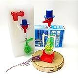 Queta Novelty Drinking Bird Non-Stop Liquid Drinking Water Glass Lucky Bird Dippy Duck Toy Perpetual Motion