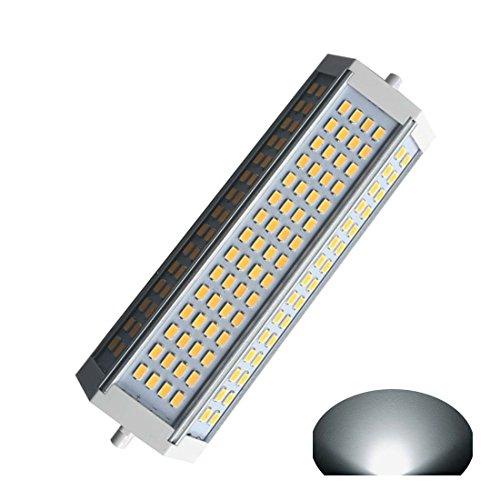 Generic R7S LED-Flutlicht, dimmbar, 50 W, Tageslicht, 6000 K, doppelseitig, R7S, AC 120 V, AC 230 V, 4700 lm, J189, L 189 x B 55 x H 40 mm, für 750 W Halogen-Ersatzlampe -
