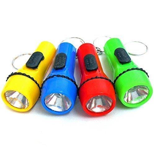 Pumpkinkaariage 12 Piezas Linterna LED clave de dinero de bolsillo cadena de regalos llavero