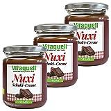 Vitaquell 3 x Nuxi Schoki Creme Bio vegan, 250 g schokoladiger Geschmack ohne Nüsse